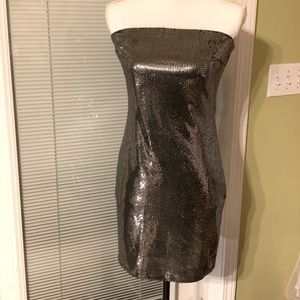 Iris Silver Junior Dress - size 02